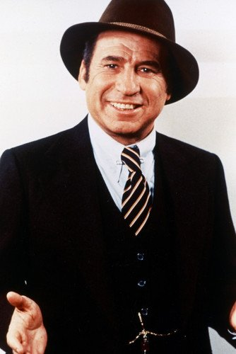 Mel Brooks 24x36 Poster classic pose in suit and hat -