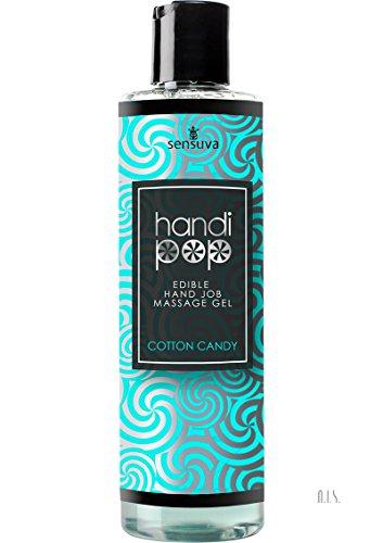 Sensuva Handipop Edible Hand Job Playful Erotic Massage Gel Lubricant Cotton Candy Flavored 4.2 (Flavored Lubricating Gel)
