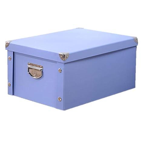 MMYOMI® Caja de Almacenamiento Plegable Cubos Organizador Cajas contenedores cajones con Tapa y Mango Caja