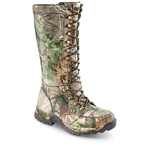 Guide Gear Men's Nylon Snake Boots, Waterproof, Side Zip, Realtree Xtra Green, 9.5D (Medium)