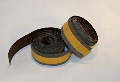Bike Ribbon. Lenkerband. Handlebar Tape. 2 mt x 2. Echtes Leder / Vero CUOIO. Farbe Braun. MADE IN ITALY (NST_112_P_A)