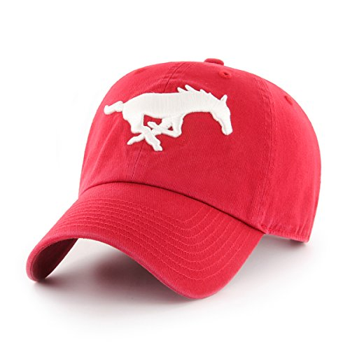 OTS NCAA Adult Women's Challenger Adjustable Hat SMU Mustangs, One Size, Red