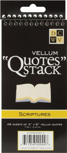 Diecuts with A View Vellum Quotes Stack, 3-Inch by 6-Inch, 48/Pad, Scriptures