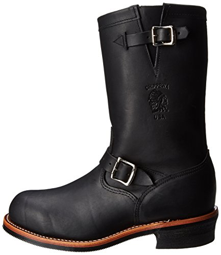 chippewa s 11 inch steel toe 27899 engineer boot black