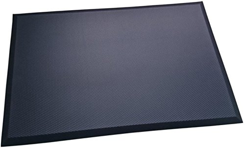 TreadSoft Premium Non-Slip Anti-Fatigue Comfort Mat, Ergonomically Engineered, Non-Toxic, Waterproof, Black