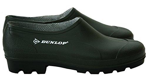 Dunlop Mens Womens Unisex Green Slip On Waterproof Gardening Low Cut Wellies Shoes Clogs UK Sizes 3-11 (EU 36-46) Green zGGaj8rT