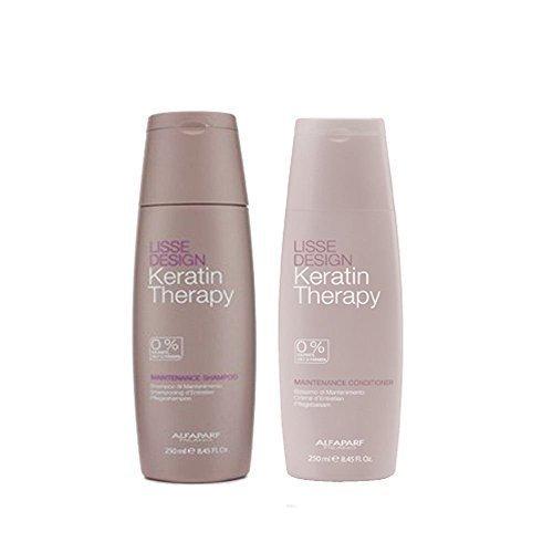 Alfaparf Lisse Design Keratin Therapy Maintenance Shampoo & Conditioner 8.45 oz/250 ml