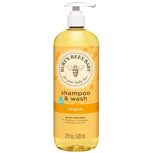 Burt's Bees Baby Shampoo & Wash, Original Tear Free Baby Soap - 21  Ounce Bottle