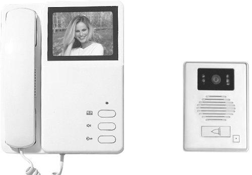 Electraline 59222 V/ídeo portero con pantalla en blanco y negro de 4 hilos