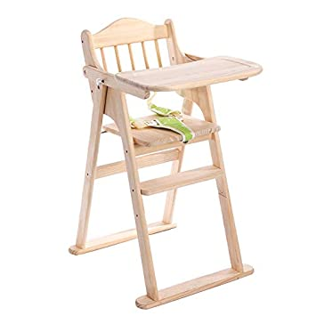 Amazoncom Kyfang Wood Baby High Chair With Tray Ergonomic Design