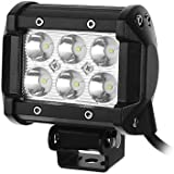 4 quot; 18W CREE LED Work Light Bar Spot Beam 30 Degree Waterproof for Off-road Truck 4WD ATV Auxili