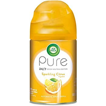 Air Wick Pure Freshmatic Refill Automatic Spray, Sparkling Citrus,Air Freshener, Essential Oil, Odor Neutralization, 5.89 Ounce, Packaging May Vary
