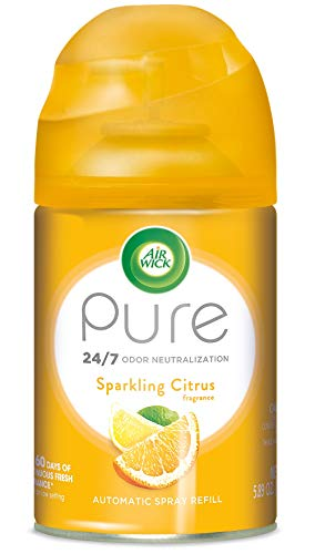 (Air Wick Pure Freshmatic Refill Automatic Spray, Sparkling Citrus, 1ct, Air Freshener, Essential Oil, Odor Neutralization, Packaging May Vary)