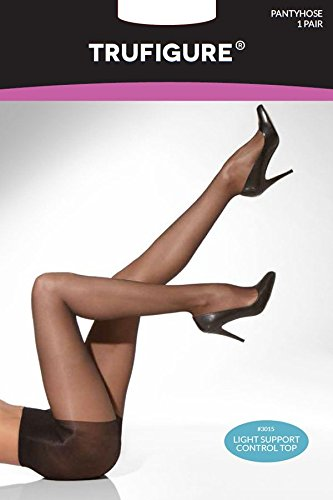 TruFigure Light Support Control Top Sheer Tights, Jet Black, S