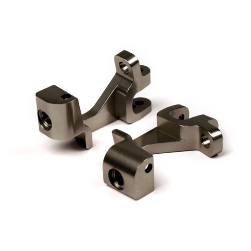 Atomik RC Alloy Front Caster Block, Grey fits the Traxxas 1/10 Slash 4X4 and Other Traxxas Models - Replaces Traxxas Part 6832