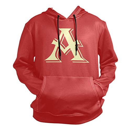 A Letter for Alvin Halloween Costume Hoodie,Fashion Sweater,Warm and Durable,Men Women Boy Girl Kid Youth,Red
