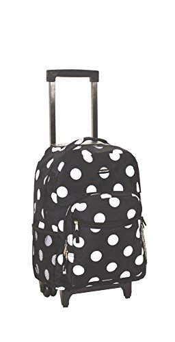 2017 Back-to-School Popular Backpacks Teens & Tweens - Rockland Luggage 17 Inch Rolling Backpack, Black Dot, Medium