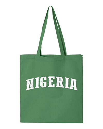 Ugo What To Do in Nigeria Africa Travel Guide Flight Deals Map Nigerian Flag Tote Handbags Bags Work School Travel by Ugo
