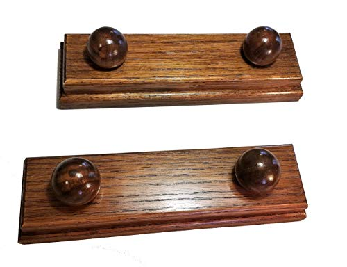 Set of Two Custom Quilt Hangers Numerous Finishes in Oak