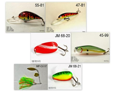 Akuna [VA] Pros' pick recommendation collection of lures for Bass, Panfish, Trout, Pike and Walleye fishing in Virginia(Bass 6-A)