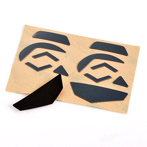 KR-NET 0.28mm Black Mice Feet Skates Teflon Protection for Logitech G502 Gaming Mouse (4X Pack Set, Competition, Overlay)