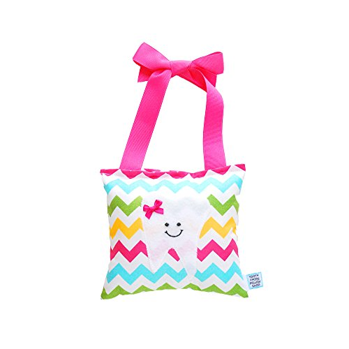 Girl's Tooth Fairy Pillow in Chevron Print Cotton
