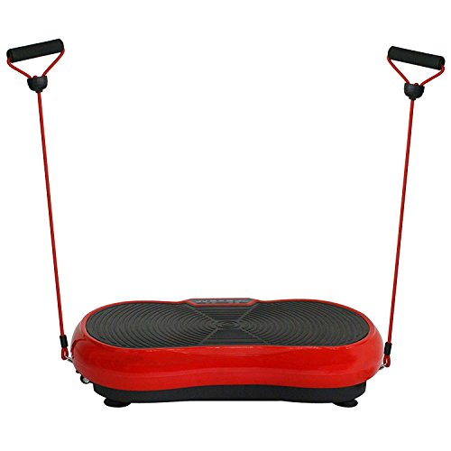 HomGarden Crazy Fitness Vibration Fit Machine Plate Platform Massager - Whole Full Body Shape Exercise Machine Workout Trainer Slim w/Bluetooth, Red by HomGarden (Image #2)