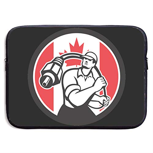Canadian Cable Installer Canada Flag Icon Laptop Sleeve Notebook Computer Pocket Case/Tablet Briefcase Carrying Bag MacBook Bag for Acer/Asus/Dell - 13-15 Inch