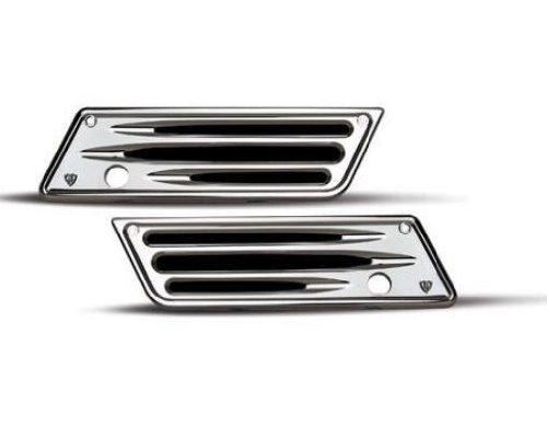 Arlen Ness 03-529 Chrome Ness-Tech Billet Saddlebag Latch Cover