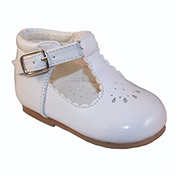a231f38cf Sevva Baby Infant Girls Spanish Style Patent T-Bar Faux Leather Non Slip  First Walking