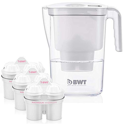 BWT Vida Water Filter Pitcher With 3 Bonus 60 Day Filters, Award Winning Austrian Quality, Technology For Superior Filtration & Taste