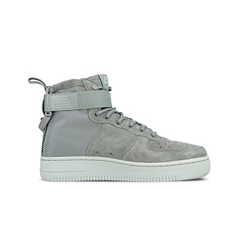Nike Womens Air Force 1 MID Light Grey AA3966-006 Deal (Large Image)