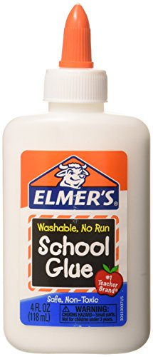 Elmer's Washable School Glue 4 Fl Oz / 118 Ml (Pack of 12) (D132) (Glue Pack)