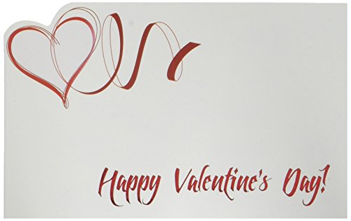 Design88 Enclosure Cards Happy Valentine's Day Red Heart Swirl 50 Pack (Red Heart Card)
