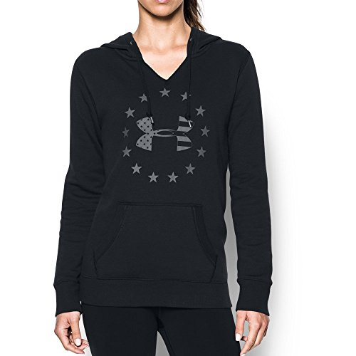 Under Armour Womens Freedom Logo FAV Fleece Black/ Graphite