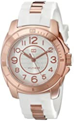 Tommy Hilfiger Women's 1781305 Rose Gold-Plated and Silicone Watch