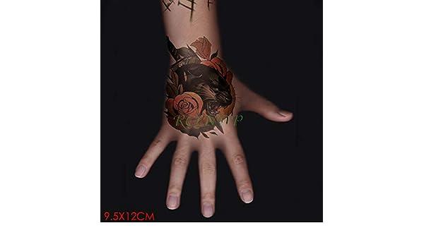 tzxdbh 7Pcs-Tatuaje Impermeable Flor Rosa roja Pegatina Tatuaje ...