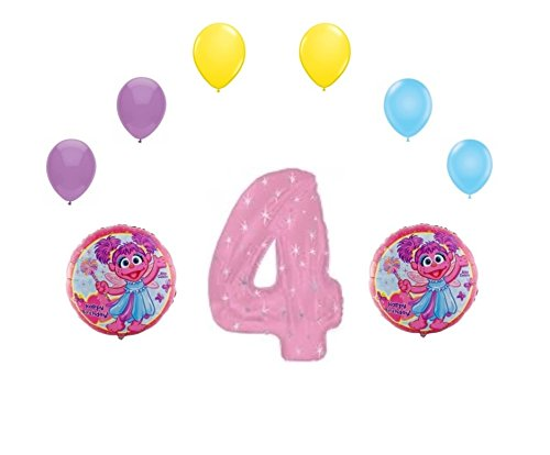 Abby Cadabby Happy 4th Birthday Balloons Set