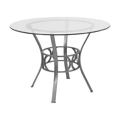 Flash Furniture Carlisle 42'' Round Glass Dining Table with