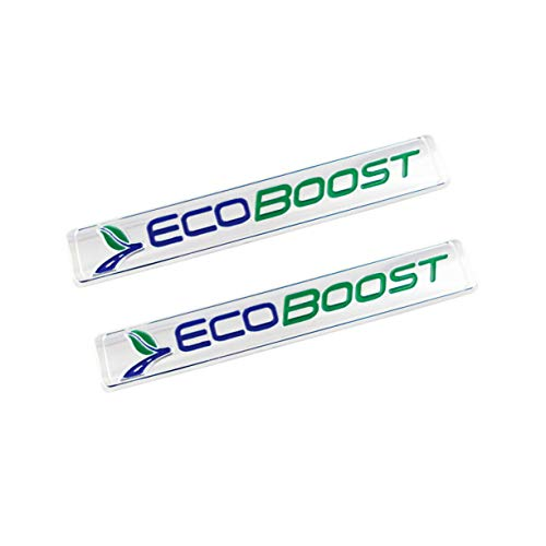 2Pack ECOBOOST Front Door Emblem 3D Badge Compatible For F-150 (Blue Green)