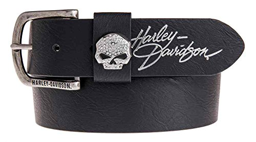 Harley Davidson Womens Embellish Willie HDWBT11023 BLK