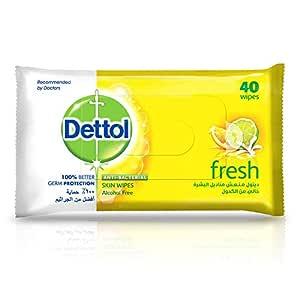 Dettol Fresh Anti-Bacterial Skin Wipes - Pack Of 40