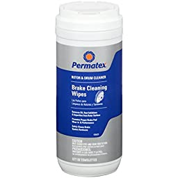 Permatex 26629 Rotor and Drum Cleaning Wipes, 50 Count