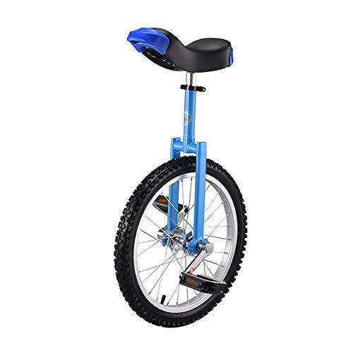 Wheelbarrow Bicycle Child Adult 16 inch Single Wheel Acrobatic Balance car-blue-16feet
