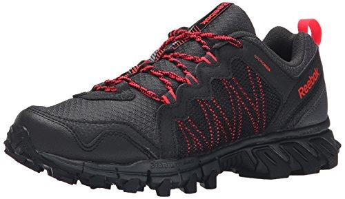 Reebok Trailgrip Rs 4.0 del zapato al aire libre Black/Gravel/Neon Cherry