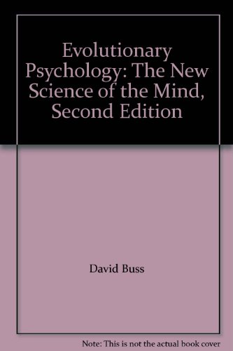 Evolutionary Psychology The New Science Of The Mind Pdf