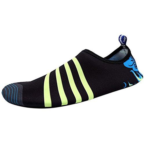 moresave piel zapatos agua Surf Fitness ejercicio Aqua calcetines unisex natación playa zapatos negro/azul