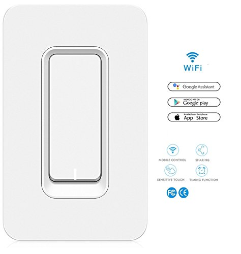 Smart Light Switch - No Hub Required - Control Lights from Phone via Wi-Fi, has Timer Function, Control Your Fixtures From Anywhere, Compatible with Alexa, Google Home, Koozam Products