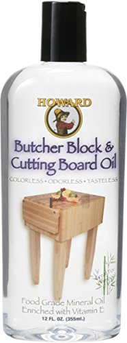 Howard Bbb012 Butcher Block And Cutting Board Food Grade Safe Mineral Oil 12 Oz (Butcher Block Buffet compare prices)