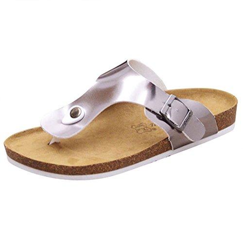 Chaussures Sandales Tongs Adulte De Mules Plage Argenté Mixte Confortable PqqaX7wxTn